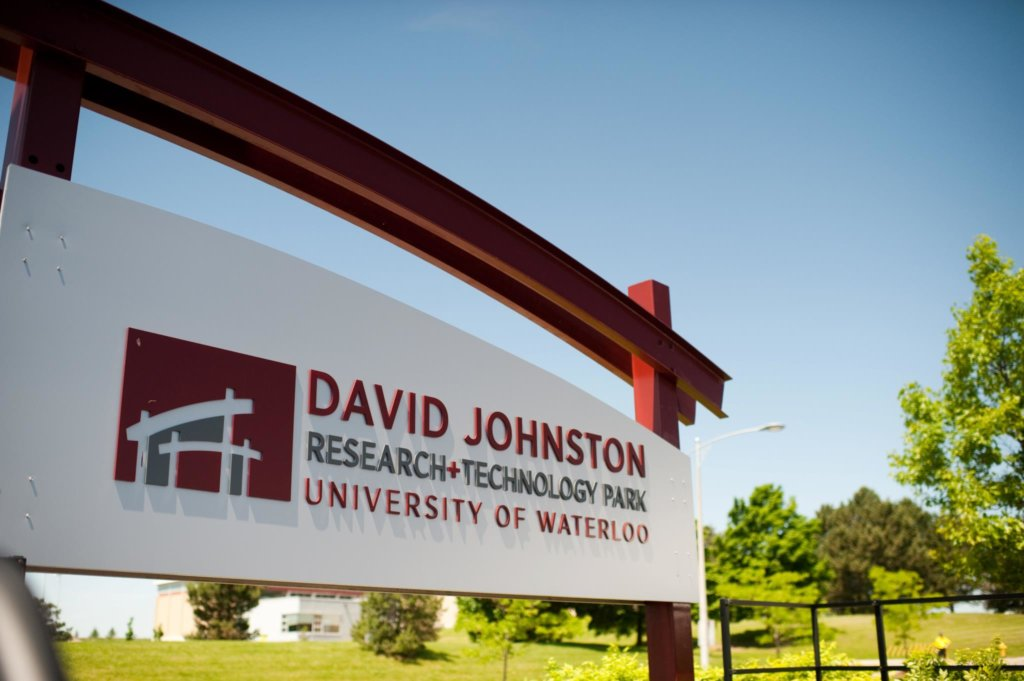 David Johnston Research and Technology Park sign, Waterloo