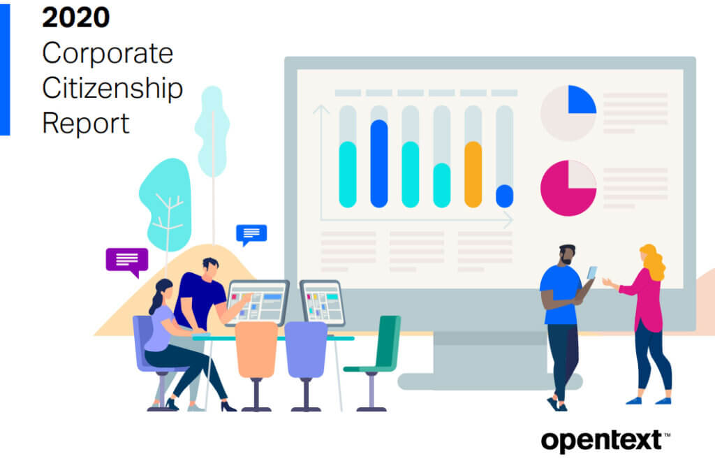 Cover image of the OpenTect Corporate Citizenship Report