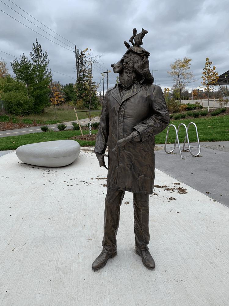 The Passenger Sculpture in R+T Park